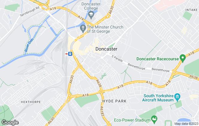 Map for Doncaster Metropolitan Borough Council, Doncaster