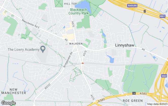 Map for Ellenbrook Estates, Manchester