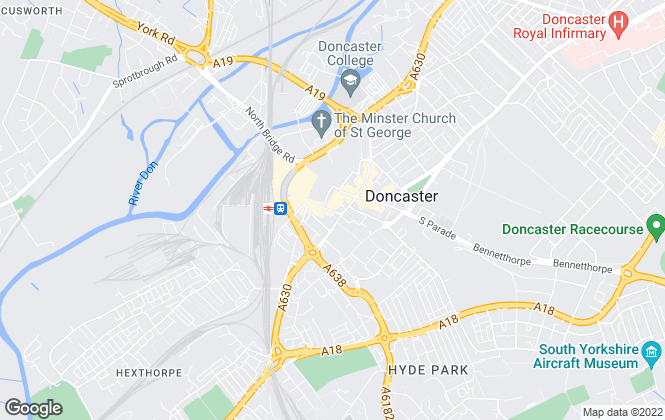 Map for Horton Knights, Doncaster Lettings