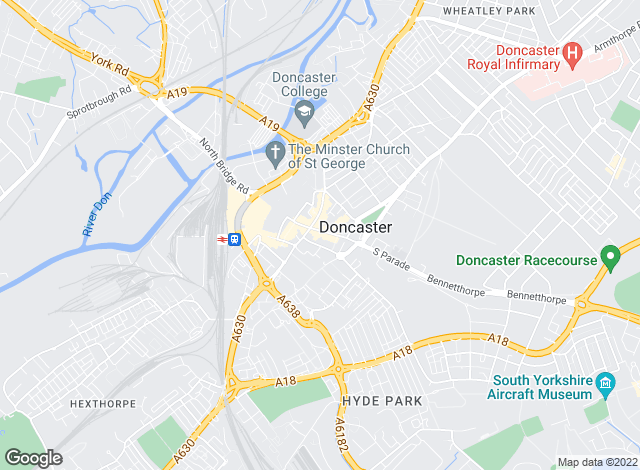 Map for YOUR MOVE Lettings, Doncaster