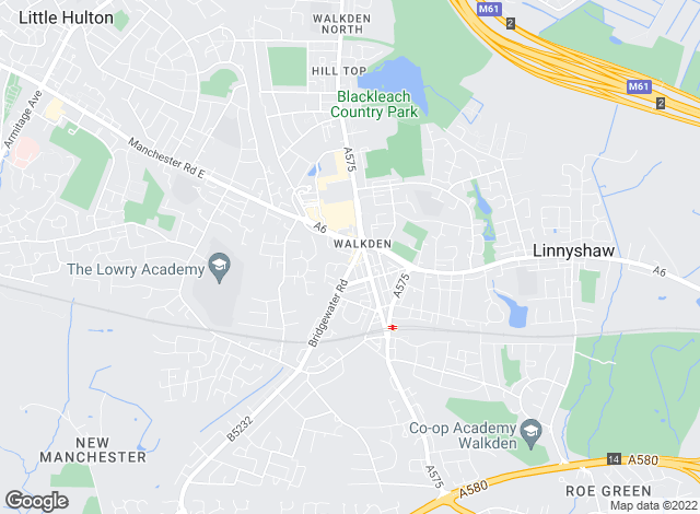 Map for Bridgfords, Walkden