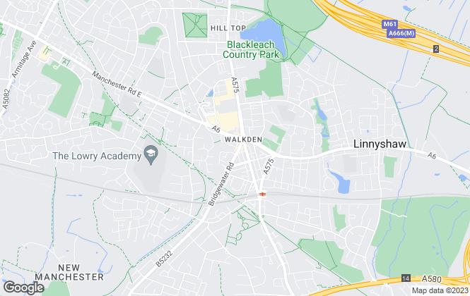 Map for Bridgfords, Walkden