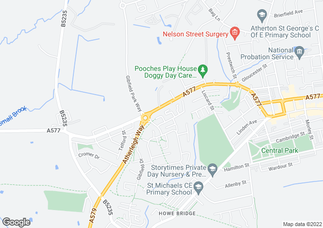 Map for Gadfield Court, Atherton, Manchester, Greater Manchester, M46