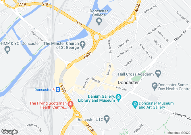 Map for 43 Market Place, Doncaster, DN1 1NJ