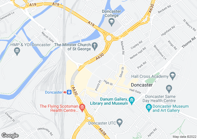 Map for 19 - 21 Baxtergate, DONCASTER, DN1 1LD