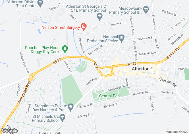 Map for Wigan Road, Atherton