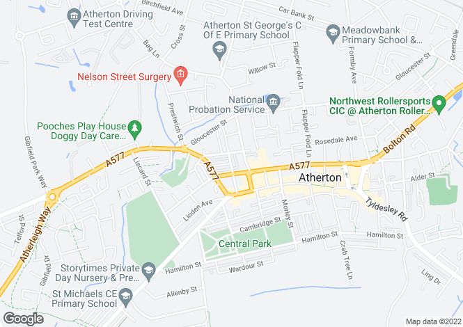 Map for Sumner Street, Atherton , Manchester M46