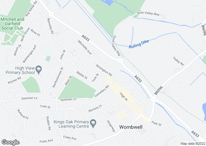 Map for Rimington Road Wombwell