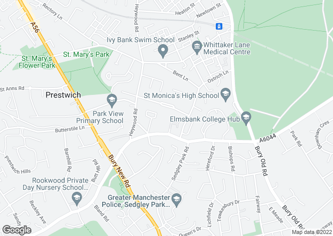 Map for The Residences, Scholes Lane, Prestwich, M25 0NT