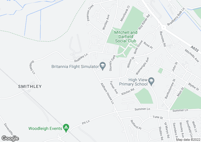 Map for Great Stubbing, Wombwell, Barnsley S73