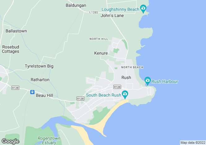 Map for Creche at Seabrook, Rush,   County Dublin