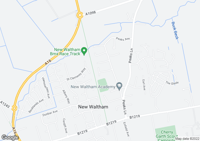 Map for Janton Court, New Waltham