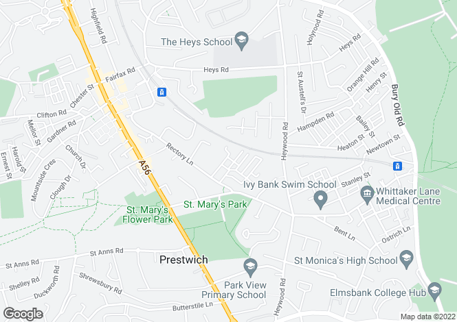 Map for Deyne Avenue, Prestwich, Manchester