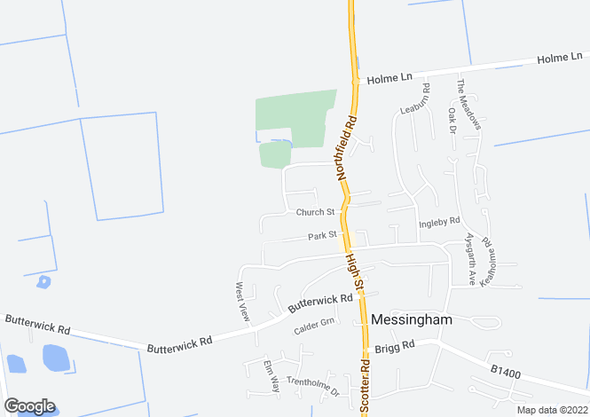 Map for CHURCH STREET, MESSINGHAM, SCUNTHORPE DN17