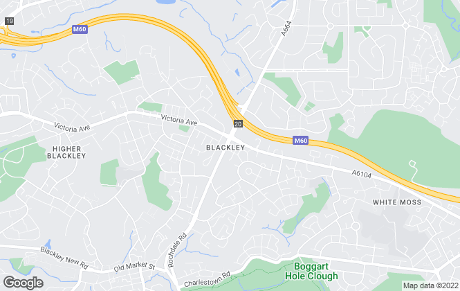 Map for Aubrey Lee & Co, Blackley