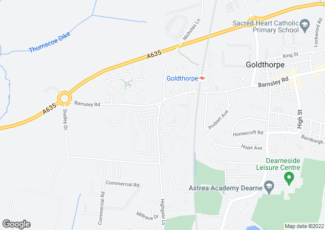 Map for Westmoor Close, Goldthorpe, Rotherham