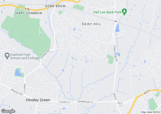 Map for Vale House, Mill Lane, Daisy Hill, Bolton