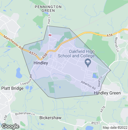 Map of property in Hindley