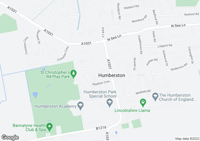 Map for The Crofts, Humberston