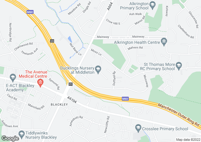 Map for Elleray Road, Alkrington, Greater Manchester