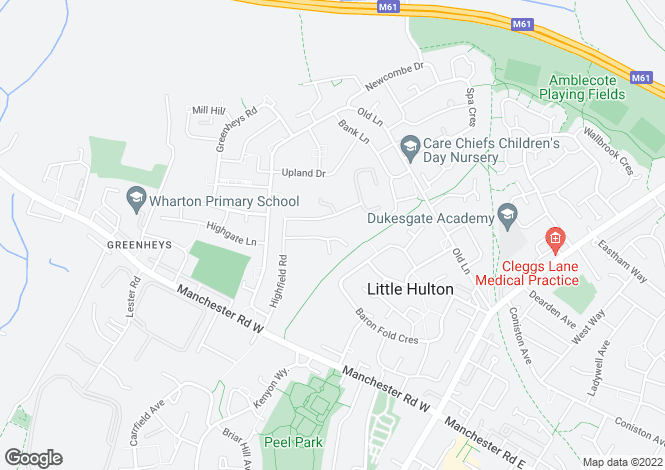 Map for Unit F Highfield Road Industrial Estate, Little Hulton, Manchester, M38 9ST