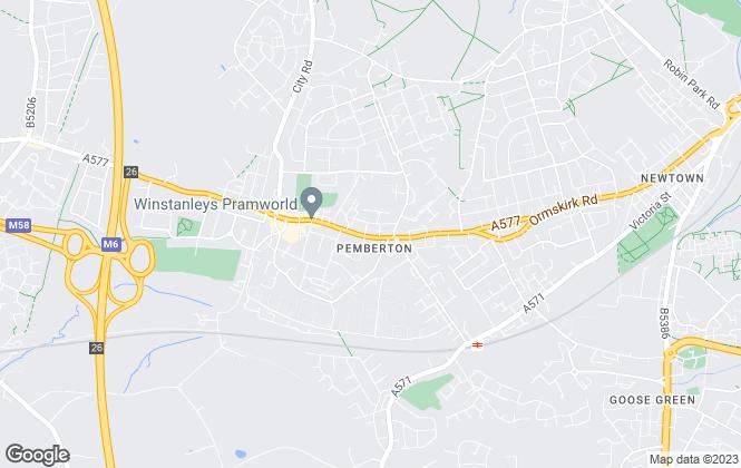 Map for Regal Estate & Letting Agents, Pemberton