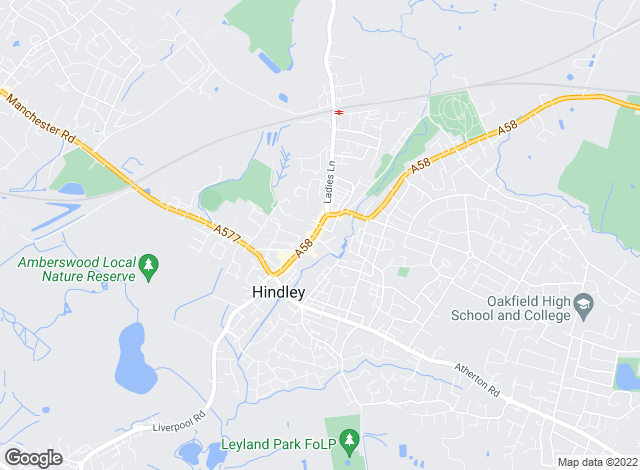 Map for Borron Shaw, Hindley