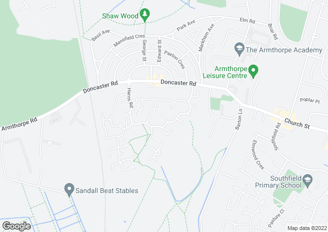 Map for Reeves Way, Armthorpe, Doncaster DN3