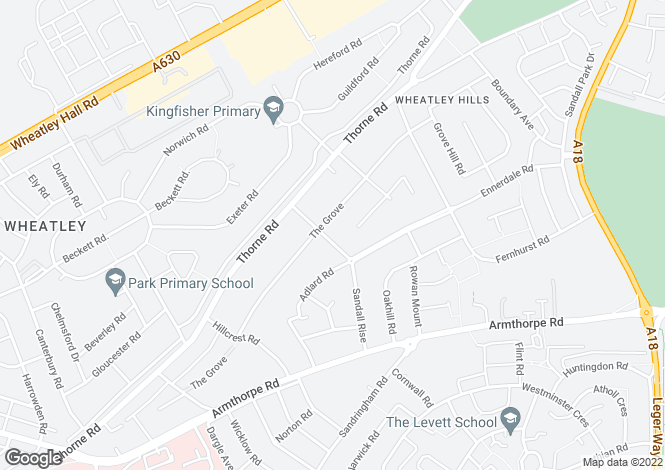 Map for 1 Thornhill Avenue,Wheatley Hills,DN2 5SE