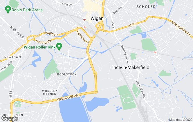 Map for Rutter Green, Wigan