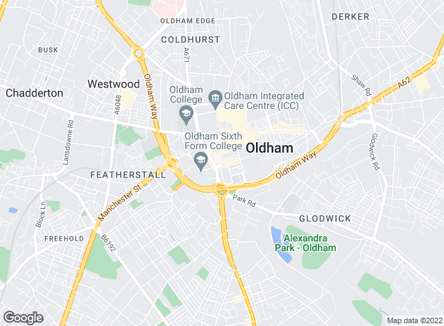 Map for The Letting Centre, Oldham