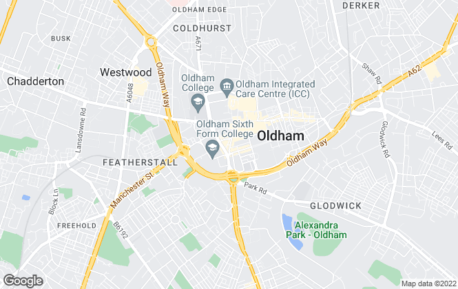 Map for Pegasus Agency, Oldham