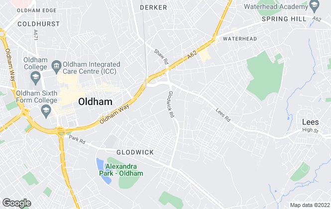 Map for Charles Nightingale, Oldham