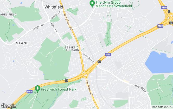 Map for Bridgfords, Whitefield
