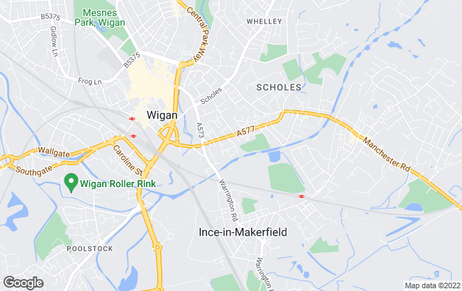 Map for Bowker Lettings, Wigan
