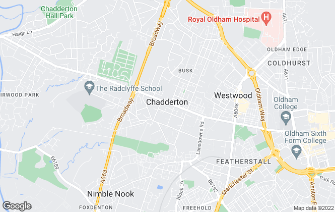 Map for Alistair Stevens Chadderton, Oldham