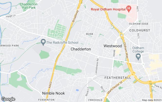Map for Kirkham Property, Chadderton - Commercial