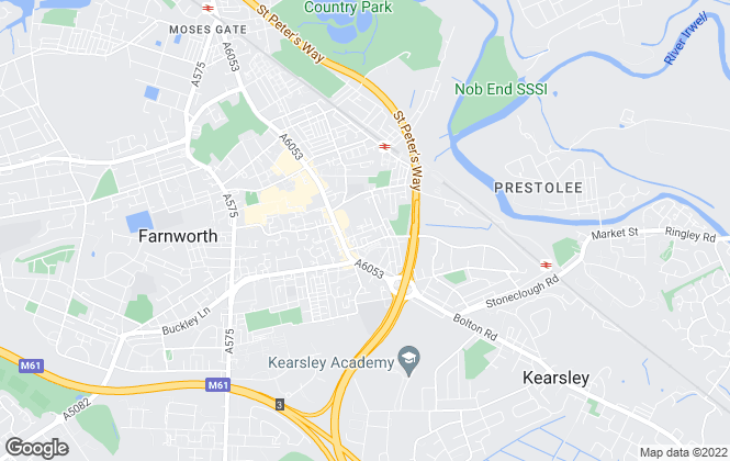 Map for Baron Properties, Farnworth