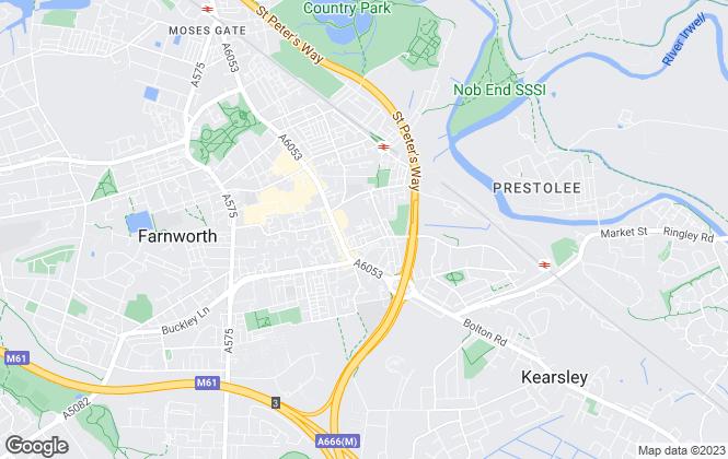 Map for Baron Properties, Farnworth