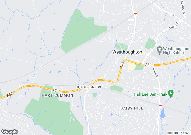 Map for Dobb Brow Road, Westhoughton, Bolton BL5