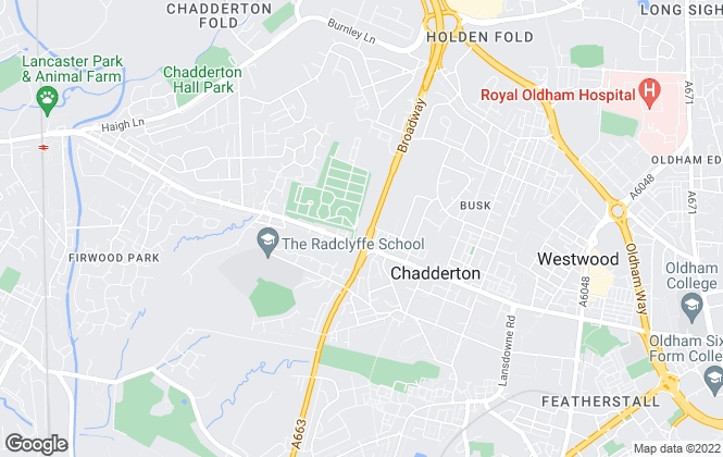 Map for Lets Relocate, Chadderton