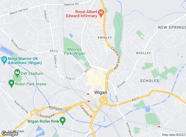 Map for Northwood (Wigan), Wigan
