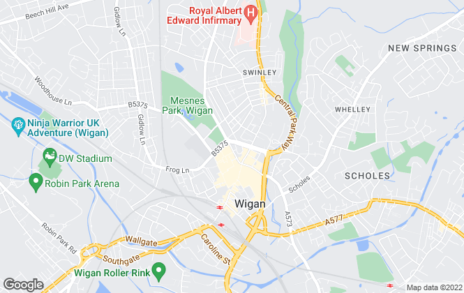 Map for Northwood, Wigan