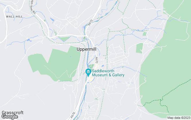 Map for Gaskells Property Management, Saddleworth, Oldham