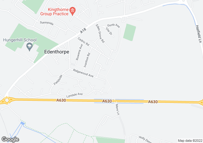 Map for Robin Hood Crescent, Edenthorpe, Doncaster