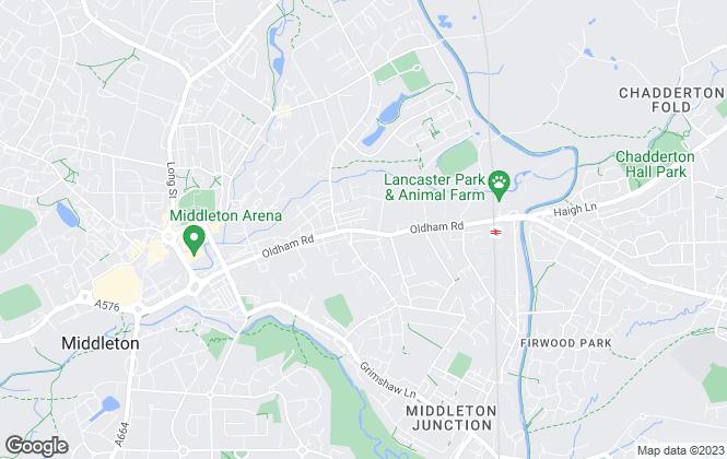 Map for Pennine Estates LLP, Middleton
