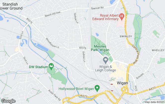 Map for Borron Shaw, Wigan - Lettings