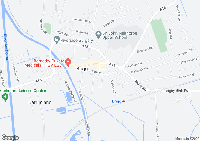 Map for Bigby Street, Brigg