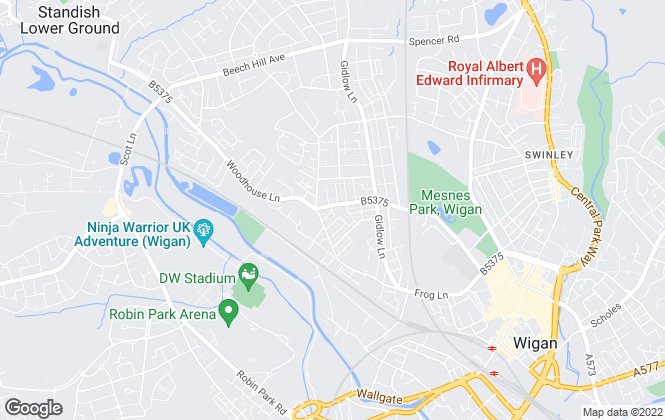 Map for Borron Shaw, Wigan