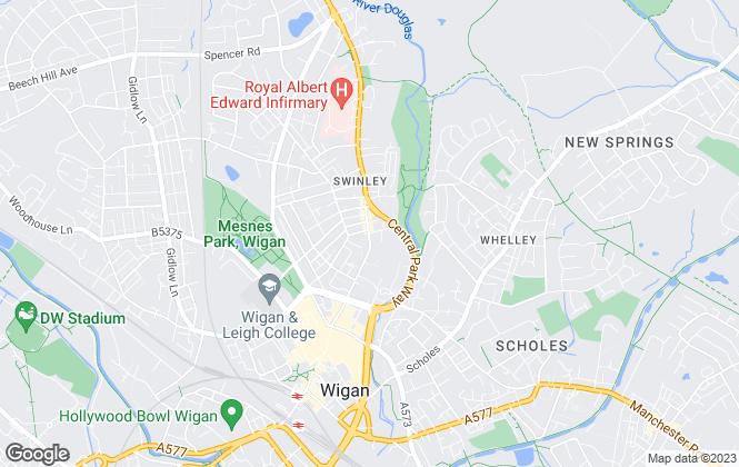 Map for Elle Properties, Wigan